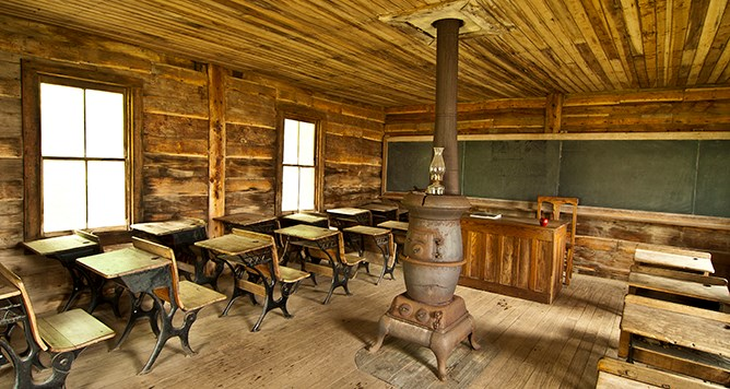 Inside of schoolhouse