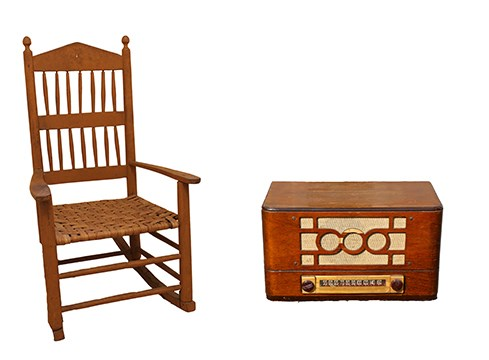 chair and radio