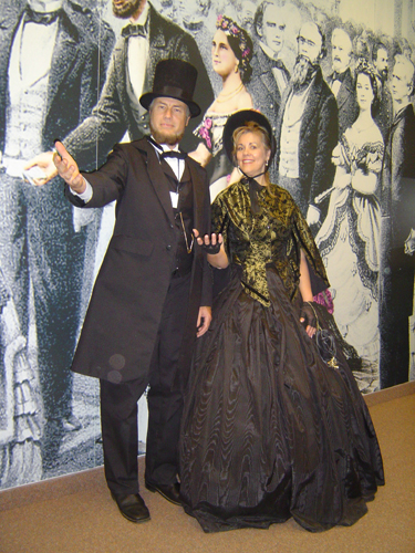 Historical reenactors portray Abraham and Mary Todd Lincoln