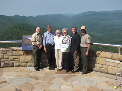 park superintendents and park partners receive generous contributions to benefit Cumberland Gap National Historical Park and Cumberland Trail State Park