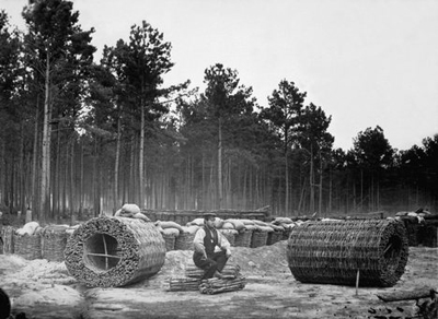 Gabions being made in Petersburg, Virginia