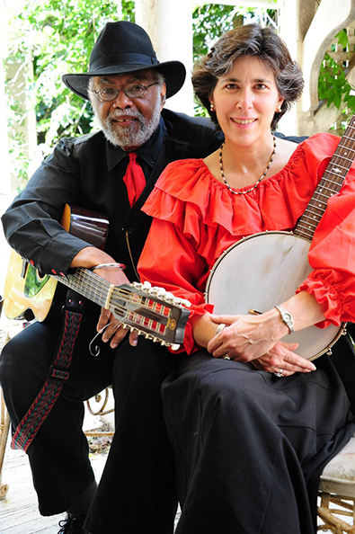 Musicians Sparky and Rhonda Rucker