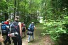 Hikers in the backcountry