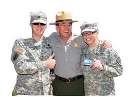 park ranger with military