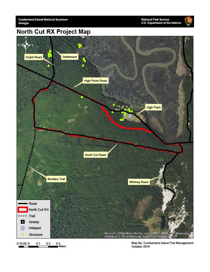 burn map for North Cut Prescribed Fire