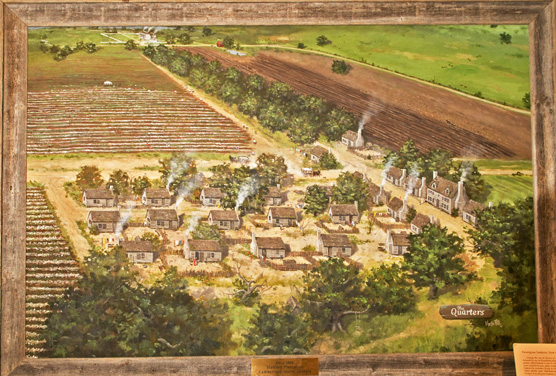 An artist's rendering of what Stafford Plantation may have looked like.
