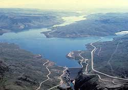 Aerial of Blue Mesa Reservoir
