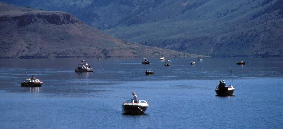 Boaters on Blue Mesa Reservoir