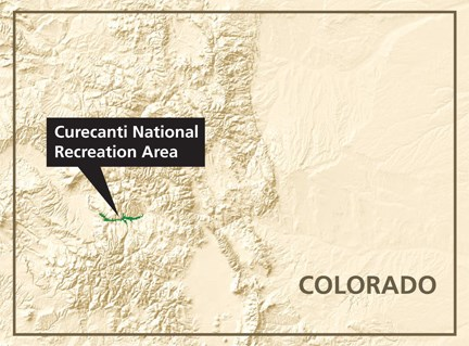 Location of Curecanti NRA in Colorado.