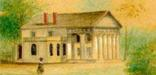 Lossing Watercolor of Arlington House