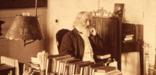 Henry Wadsworth Longfellow in his study, circa 1875.