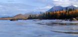 Autumn photo of Lake Clark and the Aleutian Range in Lake Clark National Park & Preserve