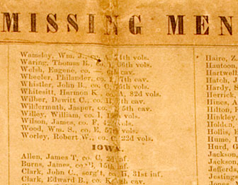 Roll of Missing Men – No. 3 To Returned Soldiers and others, Clara Barton