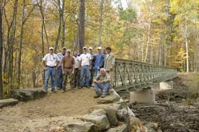 brandywine gorge trail bridge cuyahoga valley national park u s