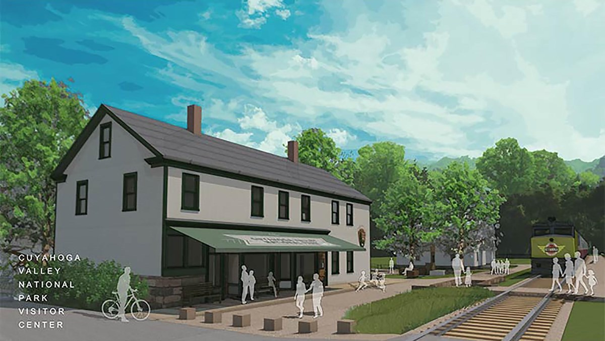 Rendering of the future Boston Mill Visitor Center