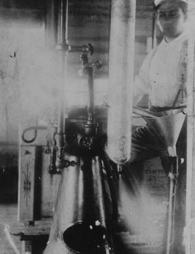 Worker in Sumner Creamery, 1898.