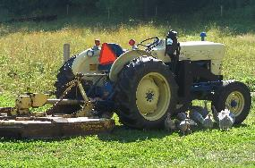 Modern tractor.