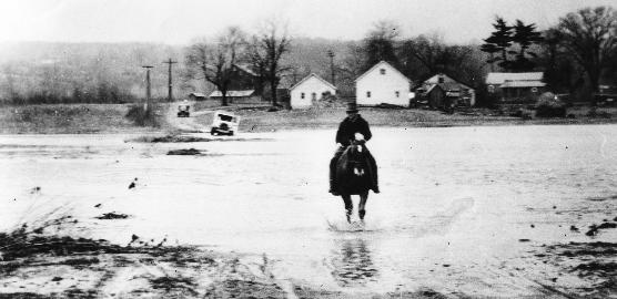 1930s flood of Bolanz Road.
