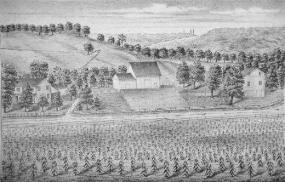 Historical depiction of Hammond-Cranz farm.