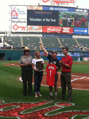 David Kopkas Cleveland Indians Volunteer Of The Year