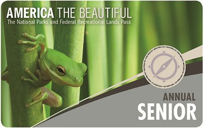Front of the 2018 America the Beautiful Senior Annual Pass