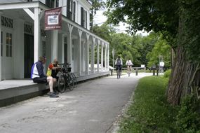 The Towpath Trail runs alongside Boston Store Visitor Center.
