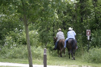 CVNP horseback riding on Towpath Sara Guren
