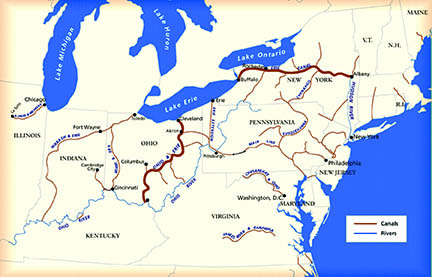 Us Canal System Map The Ohio and Erie Canal   Cuyahoga Valley National Park (U.S.