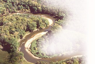 Aerial view of the Cuyahoga River