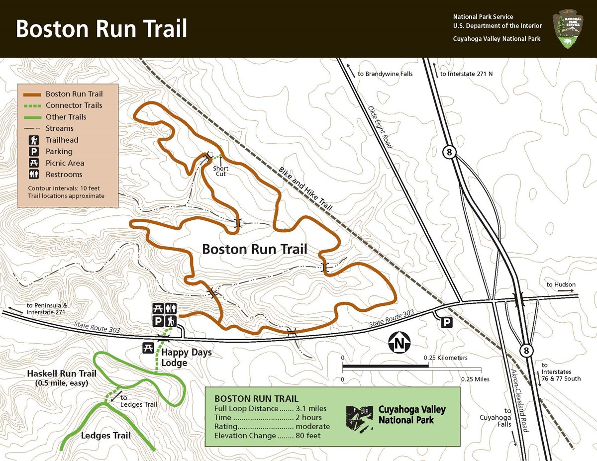 Map of Boston Run Trail