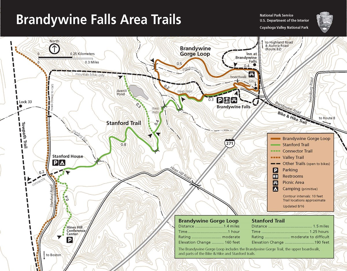 Area map of Brandywine Falls