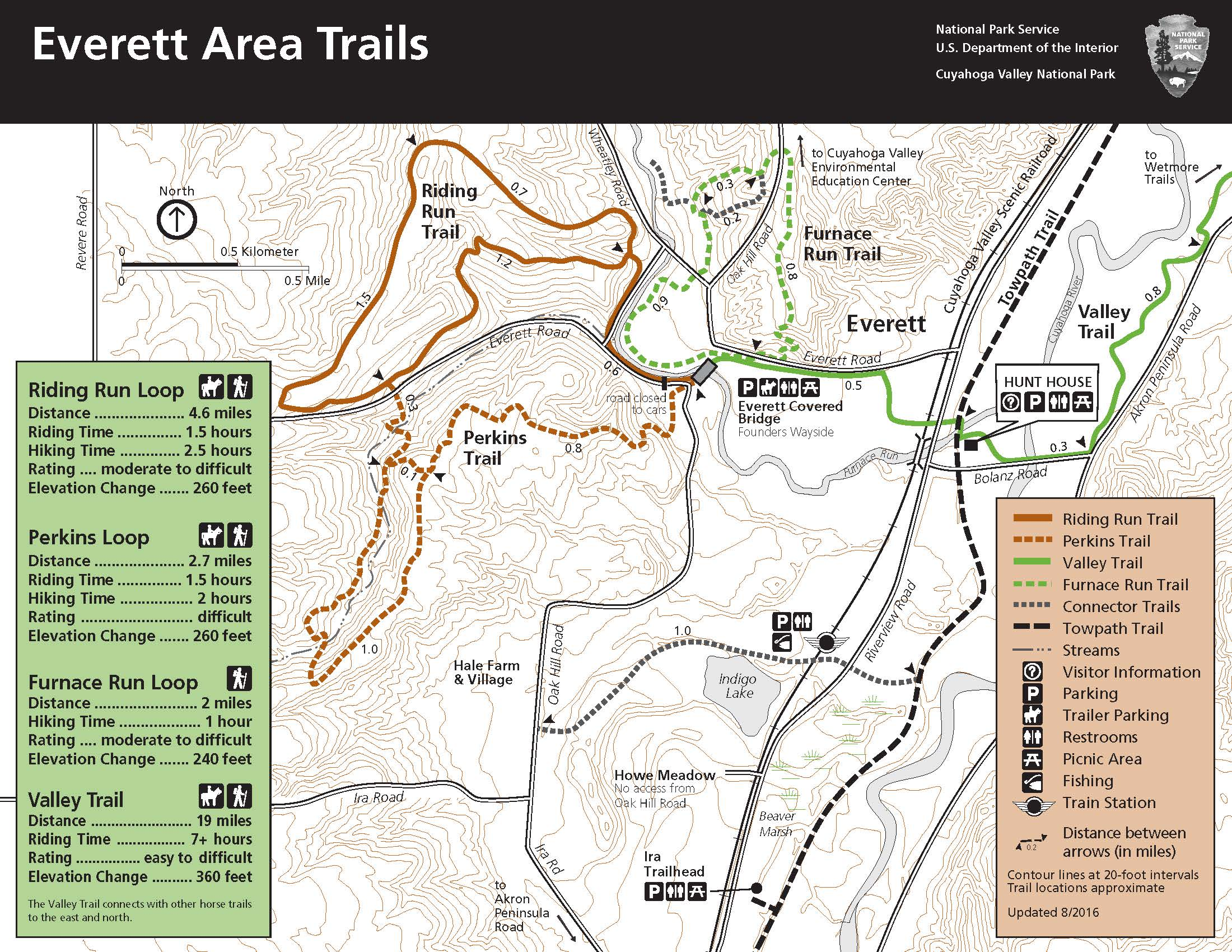 Map Of The Everett Area Trails. - Map of the Everett area trails.