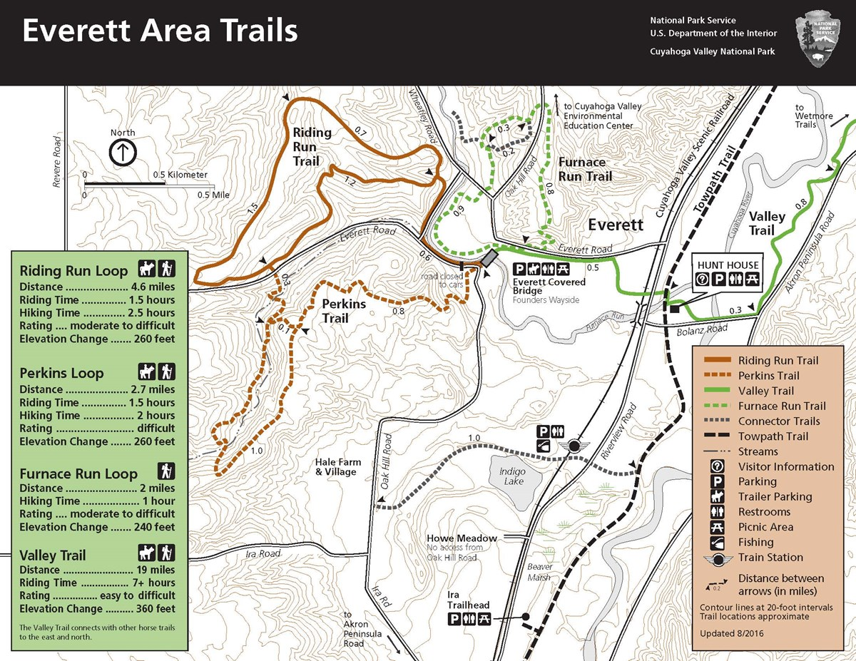 Map of the Everett area trails.