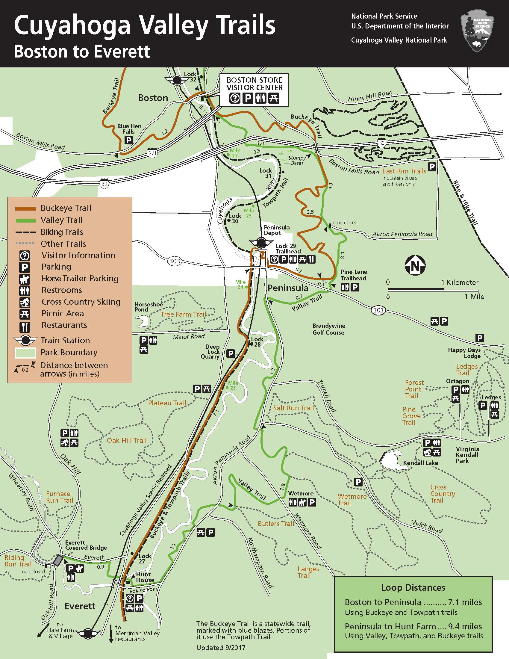 Maps - Cuyahoga Valley National Park (U.S. National Park Service) Valley Park Map on