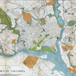 Map of Washington DC Civil War Defenses