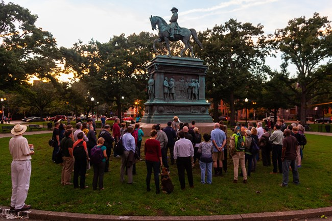 History at Sunset at Logan Circle, Washington DC, September 2018.