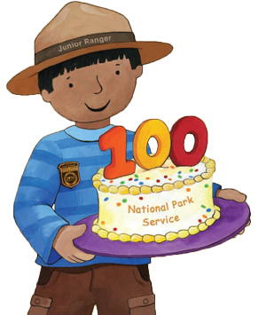 Child character with birthday cake