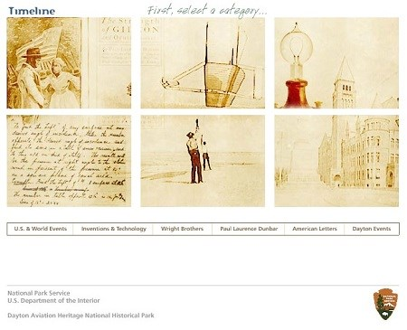 A collage of six panels depicting difference scenes of the Wright brothers' life.