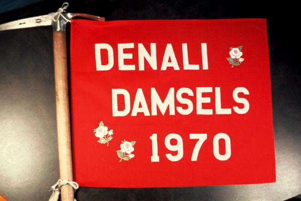 Team flag from the Denali Damsels Expedition