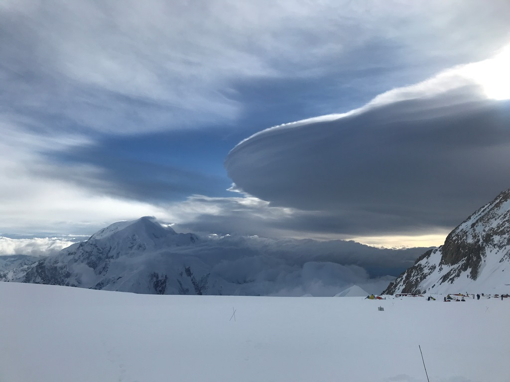Unusual cloud coverage over 14 camp