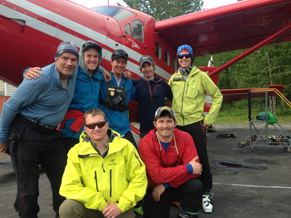 Patrol members pose for a photo before flying to basecamp