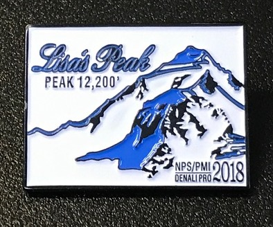 NPS PMI Denali Pro Pin depicting Lisa's Peak