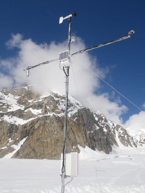A close-up of the Basecamp weather station