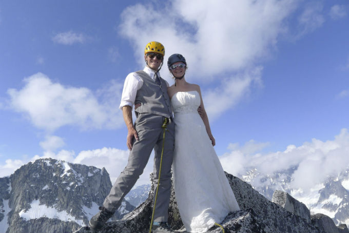 Glacier wedding