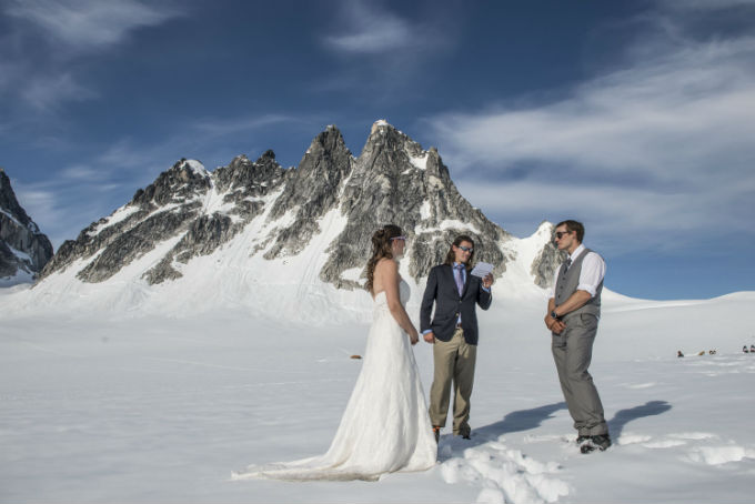Glacier Wedding 1