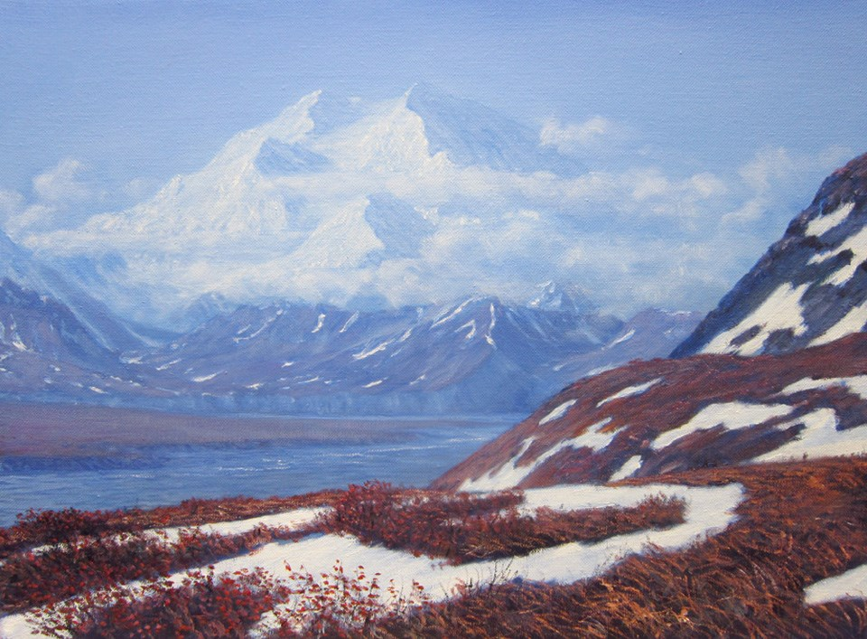 "Painting, ""Denali on a Blue Day"""