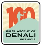 "Logo for ""First Ascent of Denali"""