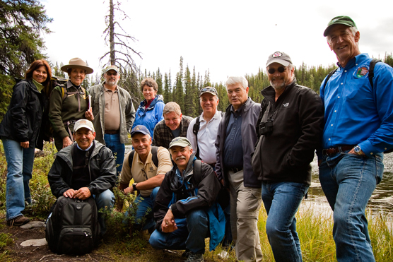 Photo of members of the National Leadership Council on a visit to Denali