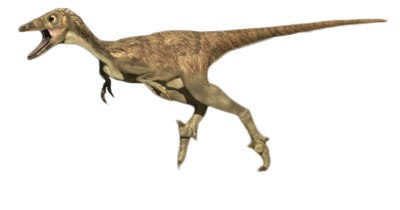 a computer image of a troodon running