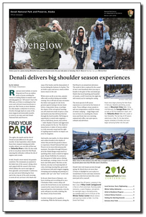 Front page of park newspaper